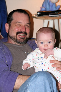 Dad and Jack 7 months