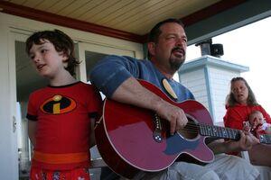 Dad Having a Sing Along